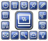 Botones de oficina — Vector de stock