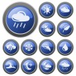 Stock Vector: Weather buttons