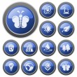 Stock Vector: Environment buttons
