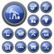 Vector de stock : Industrial buttons