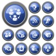 Stock Vector: Social network buttons