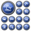 Vacations buttons — Stock Vector #13371475