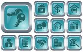 Real estate buttons — Stock Vector
