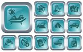 Vacations buttons — Stock Vector