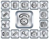 Office buttons — Vettoriale Stock