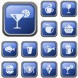 Royalty-Free Stock 矢量图片: Food and drinks buttons