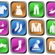 Stock Vector: Clothes buttons