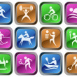 Sport buttons - Stock Vector