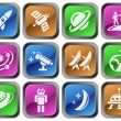 Space buttons - Stock Vector