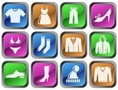 Clothes buttons — Stock Vector