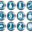 Clothes buttons - Stock Vector