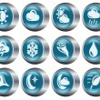 Weather buttons — Stock Vector