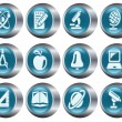 Education buttons - Stock Vector
