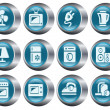 Home electronics buttons - Stock Vector