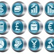 Finance buttons - Stock Vector