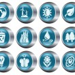 Environment buttons - Stock Vector