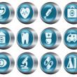 Medical buttons — Stock Vector