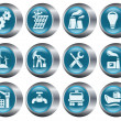 Industrial buttons - Stock Vector