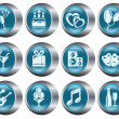 Party buttons - Stock Vector
