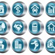 Real estate buttons - Stock Vector