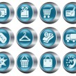 Shopping buttons - Stock Vector