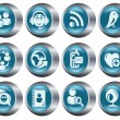 Social network buttons - Stock Vector