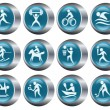 Sport buttons — Stock Vector #20065009