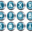 Travel buttons - Stock Vector