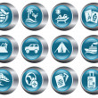 Vacation buttons - Stock Vector