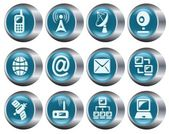 Communication buttons — Stock Vector