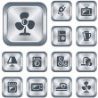 Stock Vector: Home electronics buttons