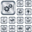 Stock Vector: Industrial buttons