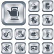 Royalty-Free Stock Imagen vectorial: Kitchen and cooking buttons