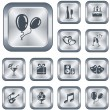 Stock Vector: Party buttons