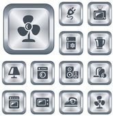 Home electronics buttons — Vettoriale Stock
