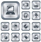 Hardware buttons — Stock Vector