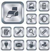 Office buttons — Stock Vector