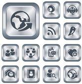 Social network buttons — Stock Vector