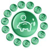 Finance buttons — Vector de stock