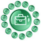 Office buttons — Vector de stock