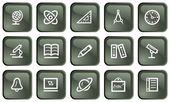 Eğitim düğmeleri — Stok Vektör