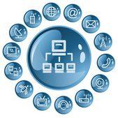Przyciski komunikacji — Wektor stockowy
