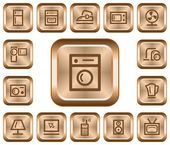 Home electronics buttons — Stock Vector