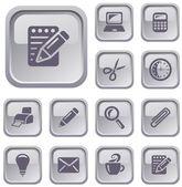 Office buttons — Stockvektor