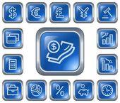 Finance buttons — Stock Vector