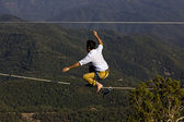 Tightrope walker — Stock Photo