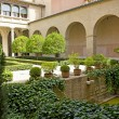 Santa Isabel Patio within the Aljaferia Palace at Zaragoza - Stock Photo