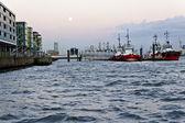 Tugboats at harbor — Stock Photo