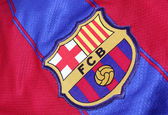 Voetbal club barcelona crest — Stockfoto