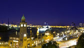Hamburg in the evening — Stock Photo